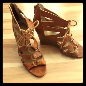 """ana """"a new approach"""" wedge heels"""